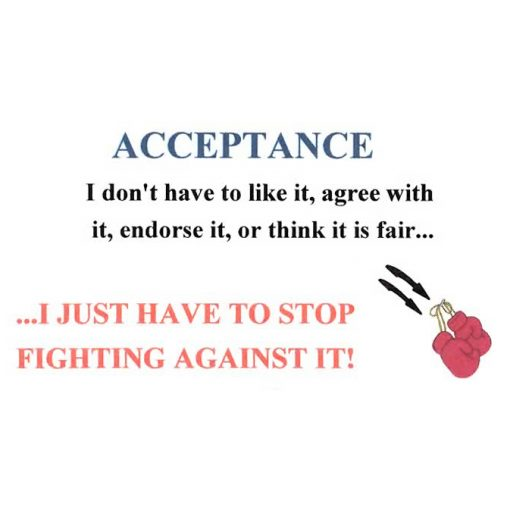 Acceptance ...I Just Have to Stop Fighting Against It