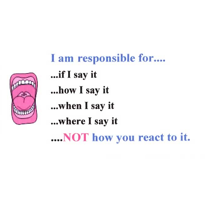 I Am Responsible For...