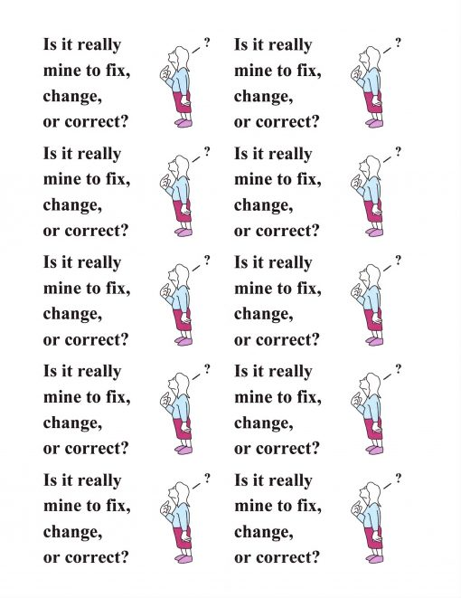 Is It Really Mine to Fix, Change, or Correct?