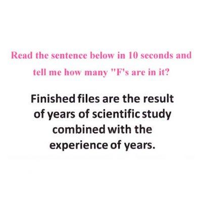 Read This Sentence Below In 10 Seconds
