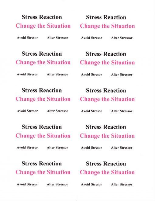 Stress Reaction Avoid
