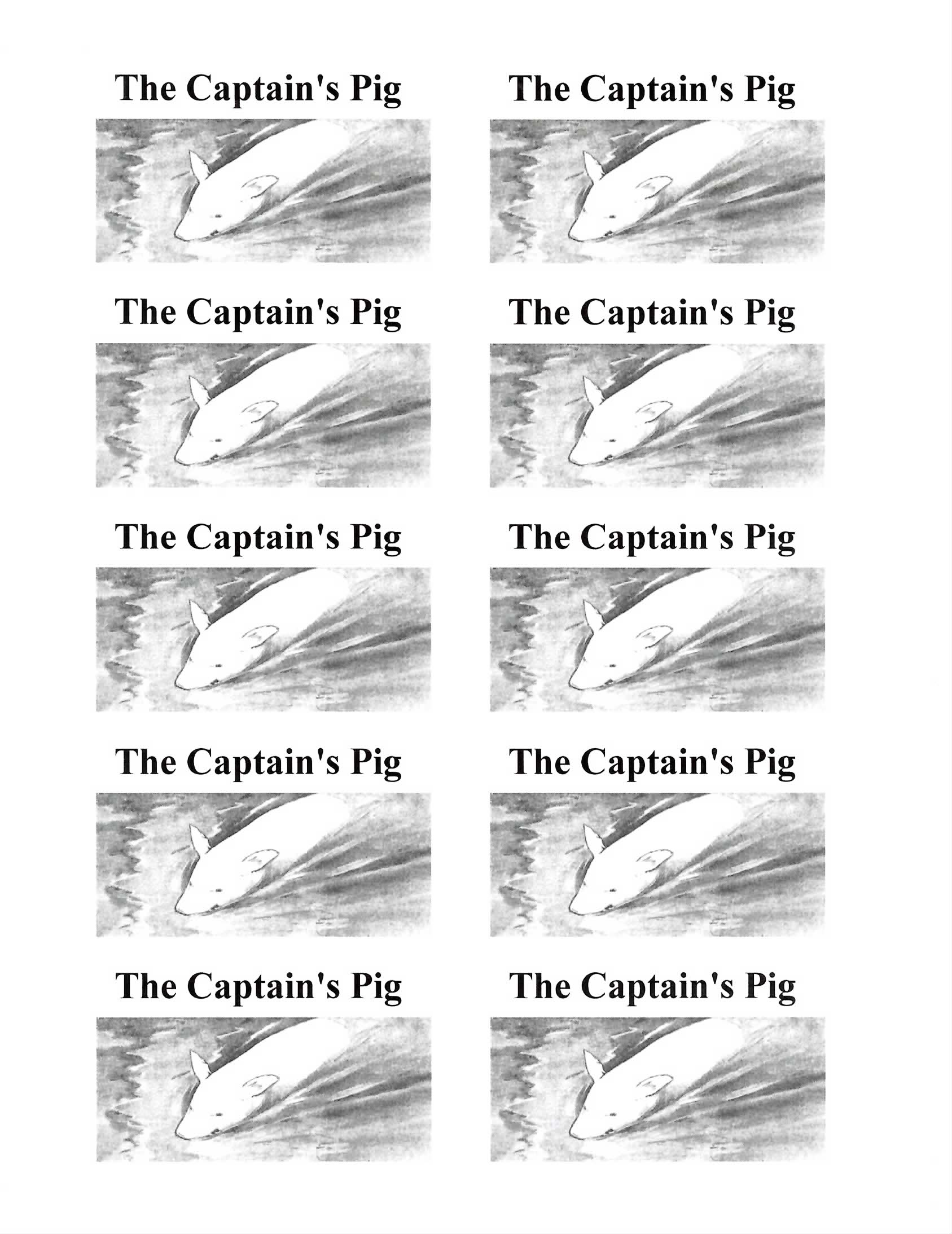 The Captain's Pig