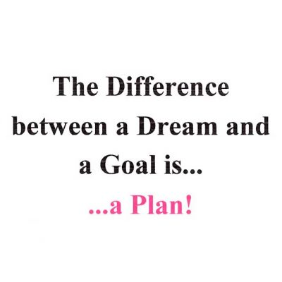The Difference Between a Dream And a Goal is... a Plan!
