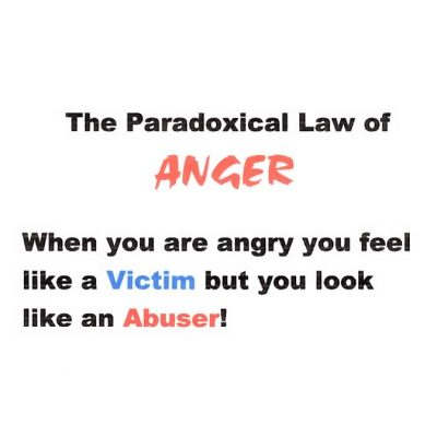 The Paradoxical Law of Anger