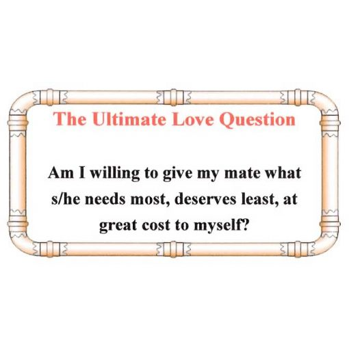 The Ultimate Love Question