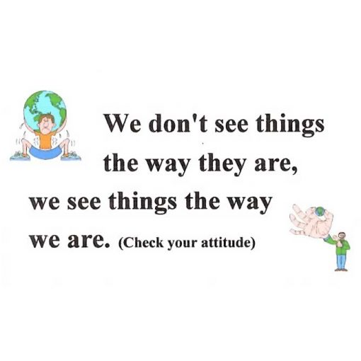 We Don't See Things the Way They Are