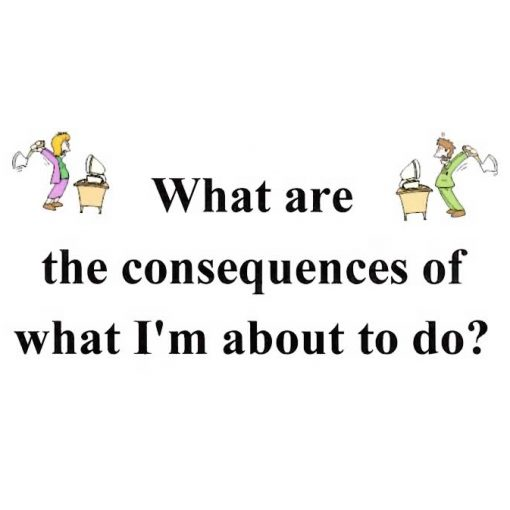 What Are The Consequences Of What I'm About To Do?